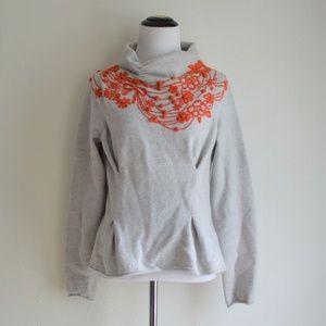 Anthropologie Moth Fire Flower Cowlneck Sweater